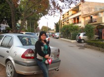 Soniya, my couchsurfer angel and our neighborhood :)